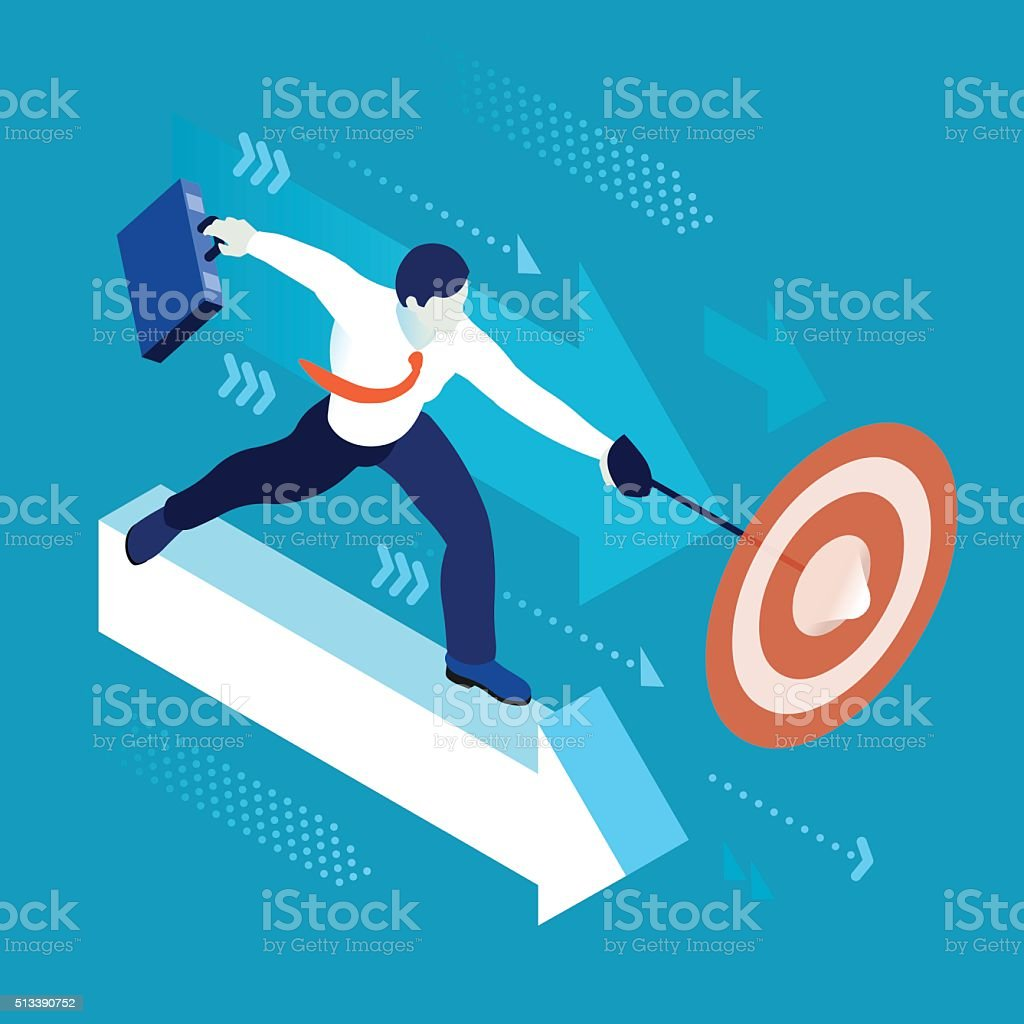 Business Graph 04 People Isometric vector art illustration