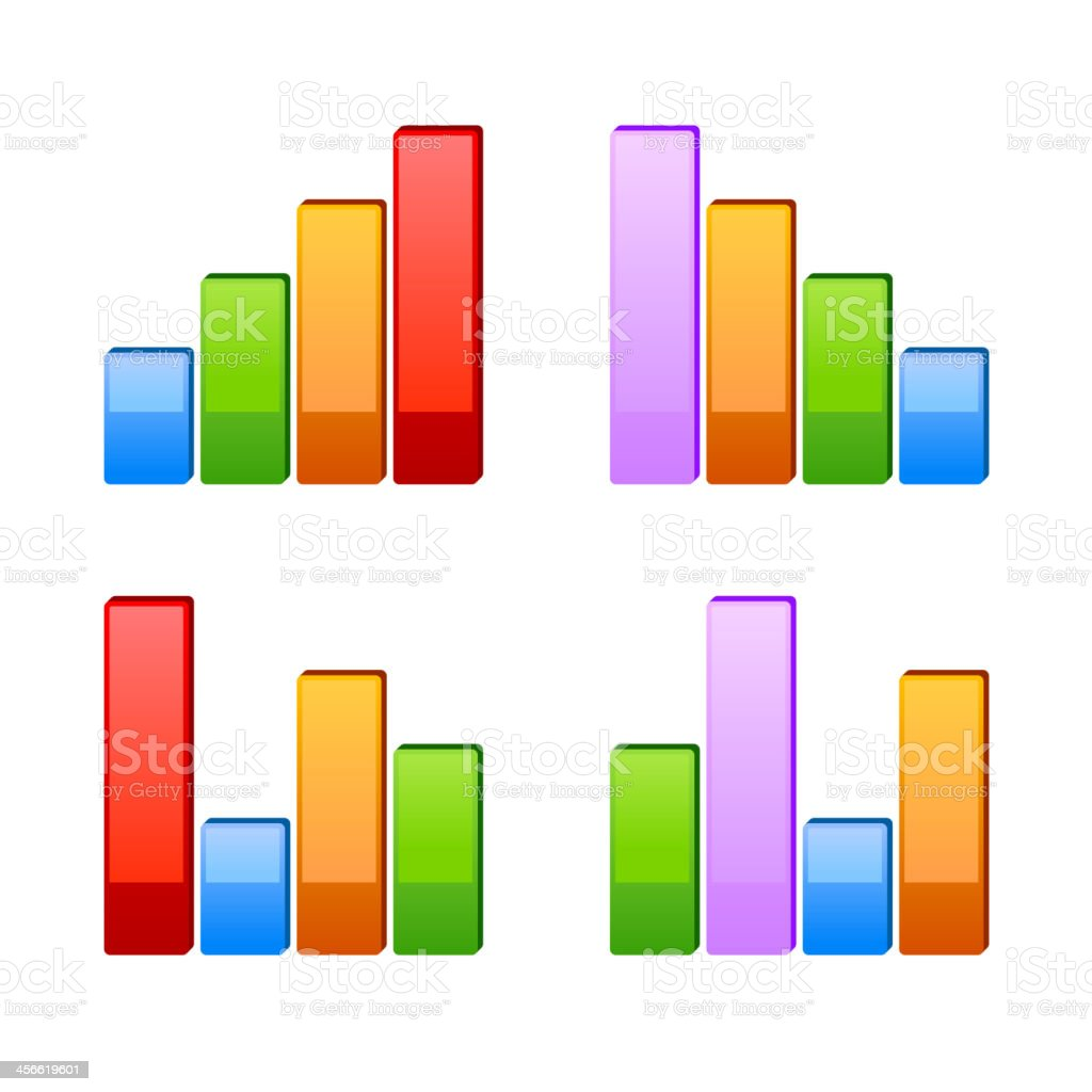Business graph. Vector growth progress royalty-free stock vector art
