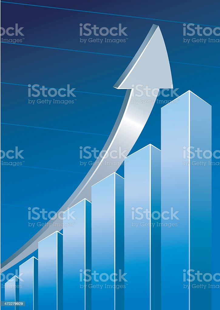 3D Business graph royalty-free stock vector art