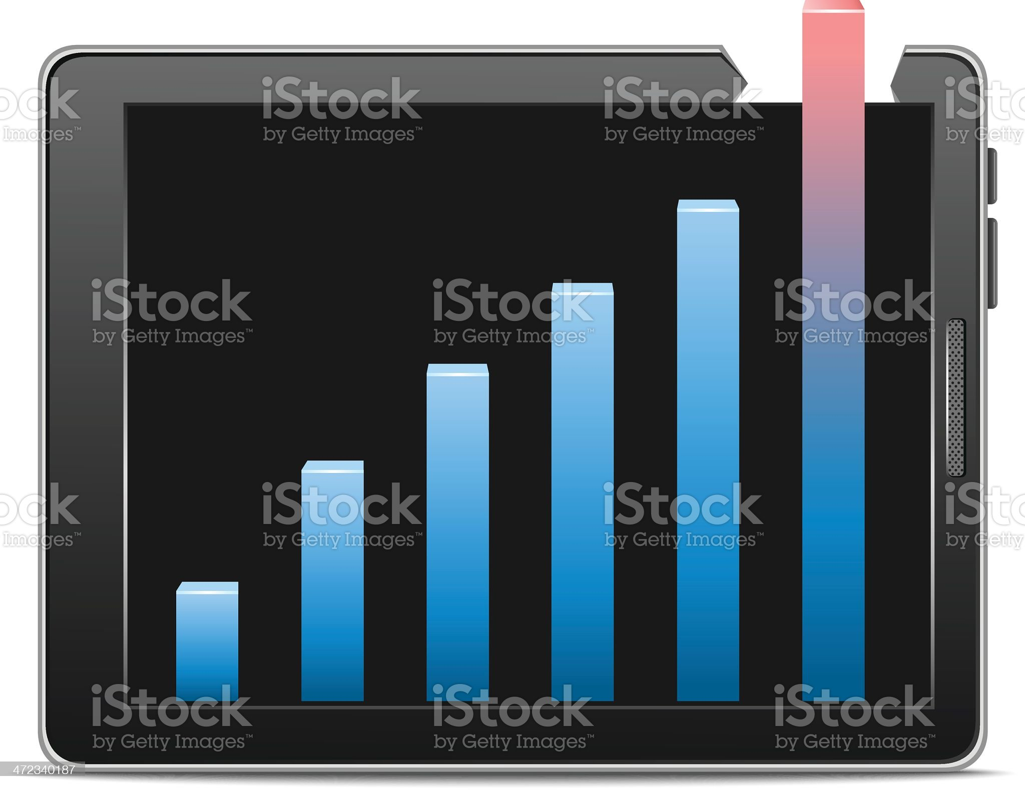 Business Graph royalty-free stock vector art