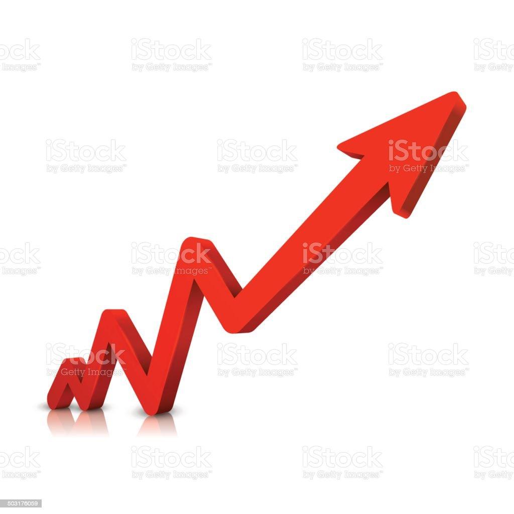 Business graph vector art illustration