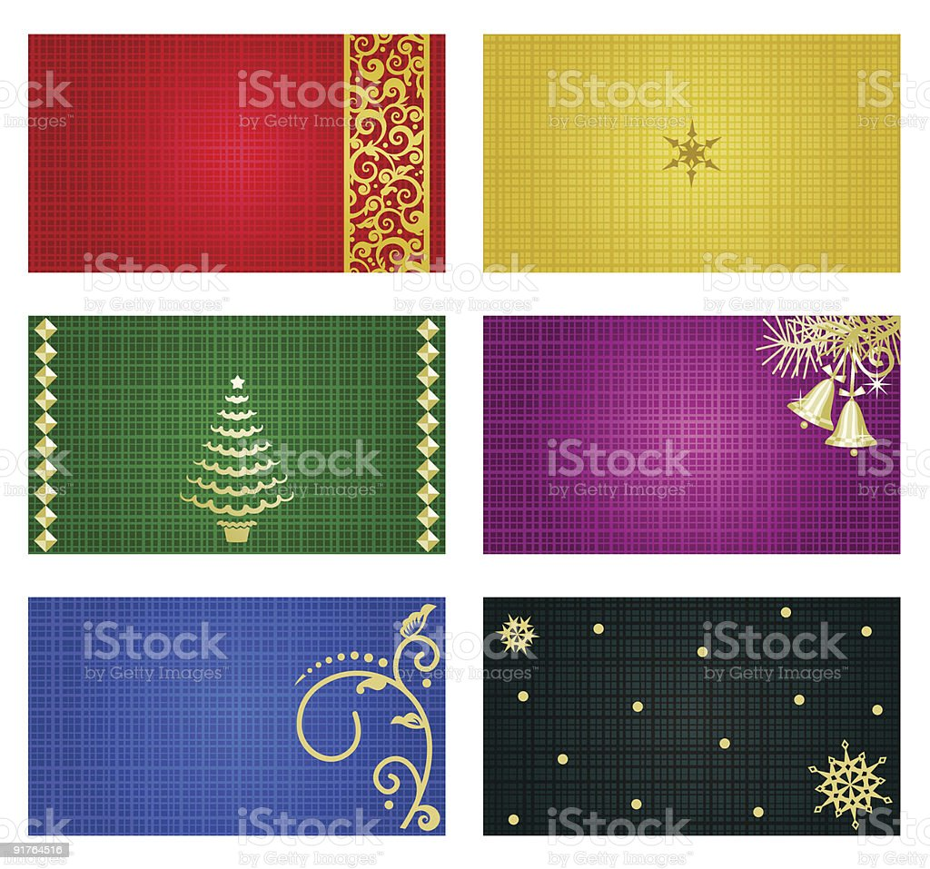 Business, greeting or gift cards and tags templates royalty-free stock vector art