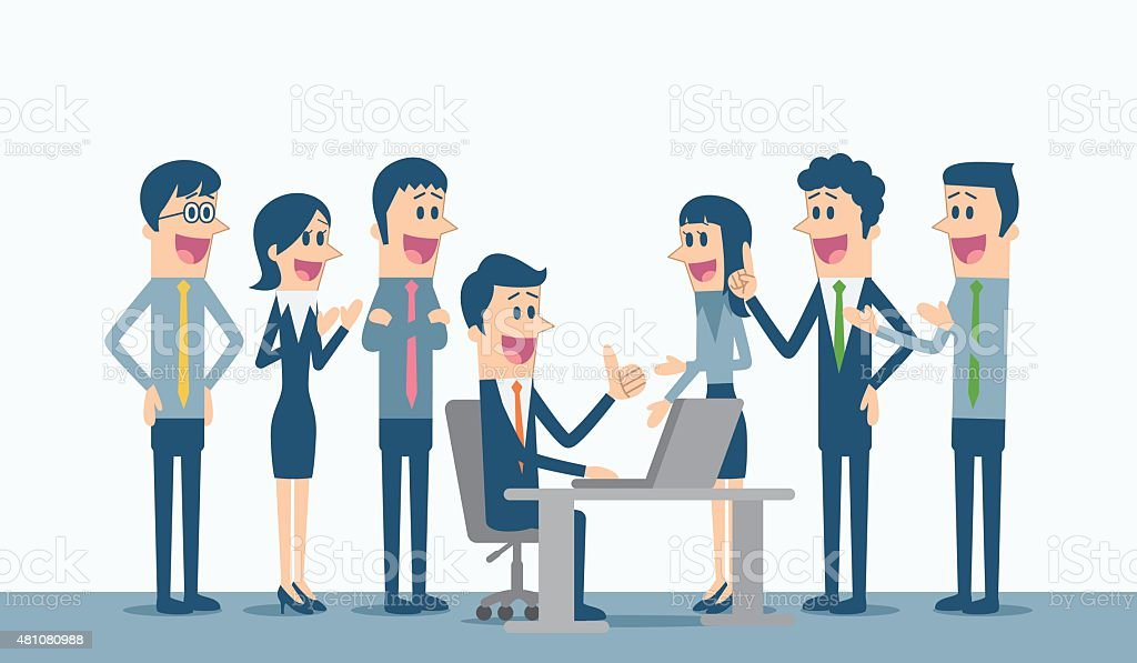 Business Group vector art illustration