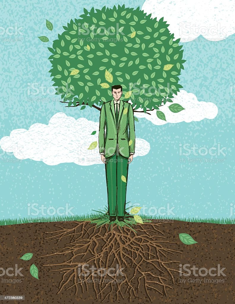 Business Growth Concept vector art illustration