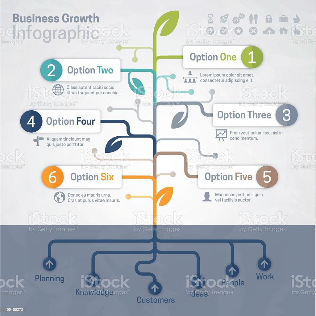Business Growth Infographic vector art illustration