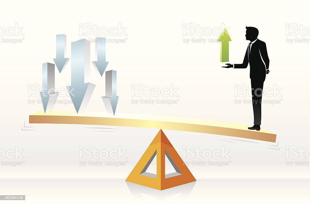 Business Growth Scale royalty-free stock vector art