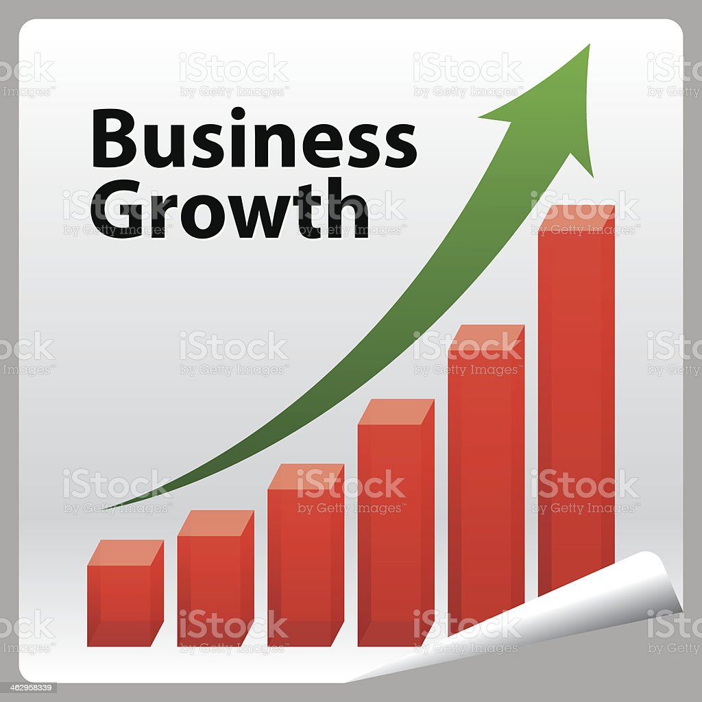 Business Growth. royalty-free stock vector art
