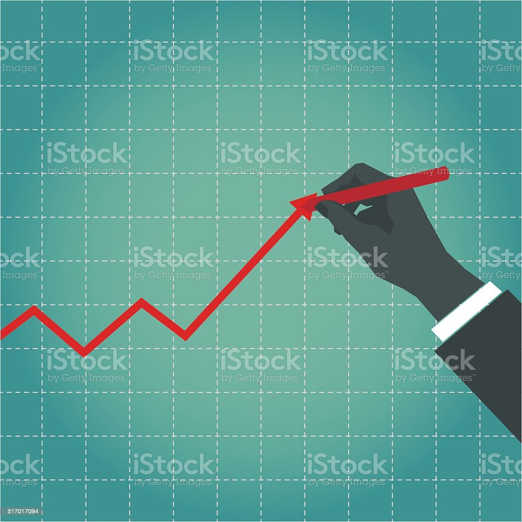 business growth vector art illustration