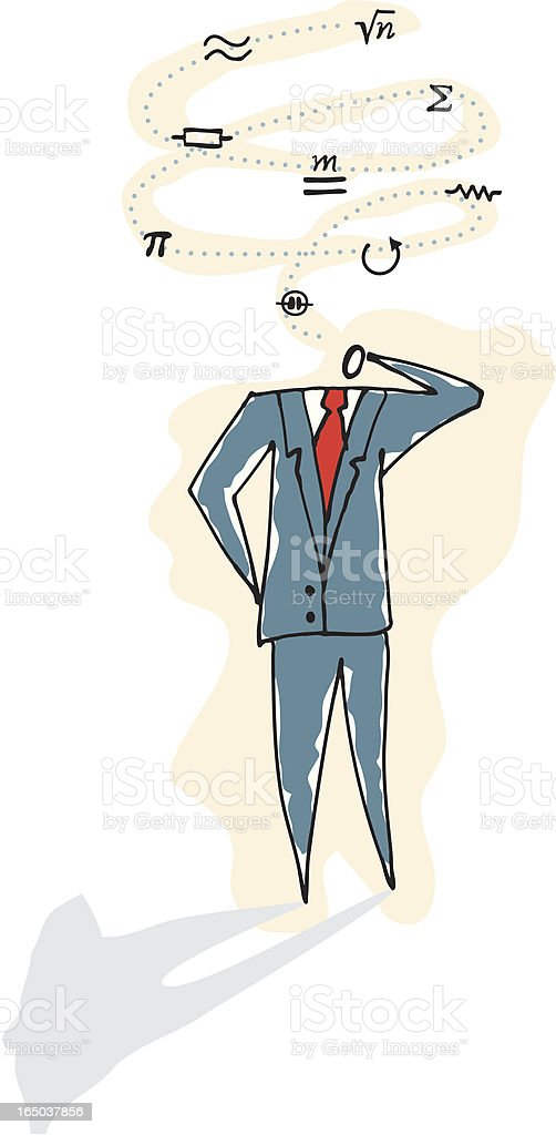 Business Guy with Ideas royalty-free stock vector art