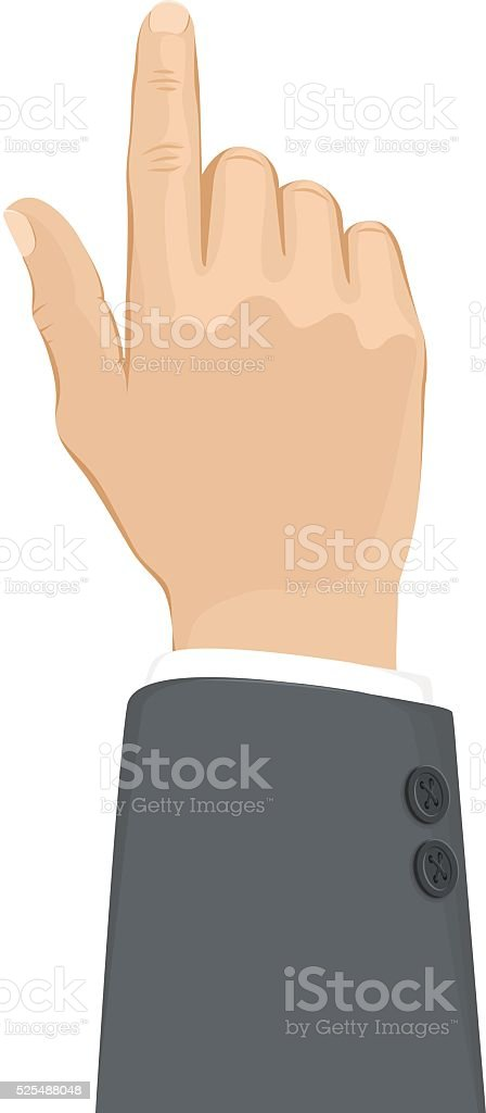 Business Hand Touch vector art illustration