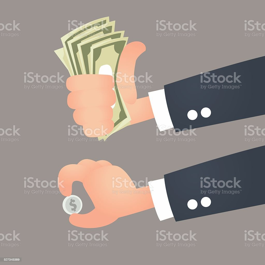 Business hand royalty-free stock vector art