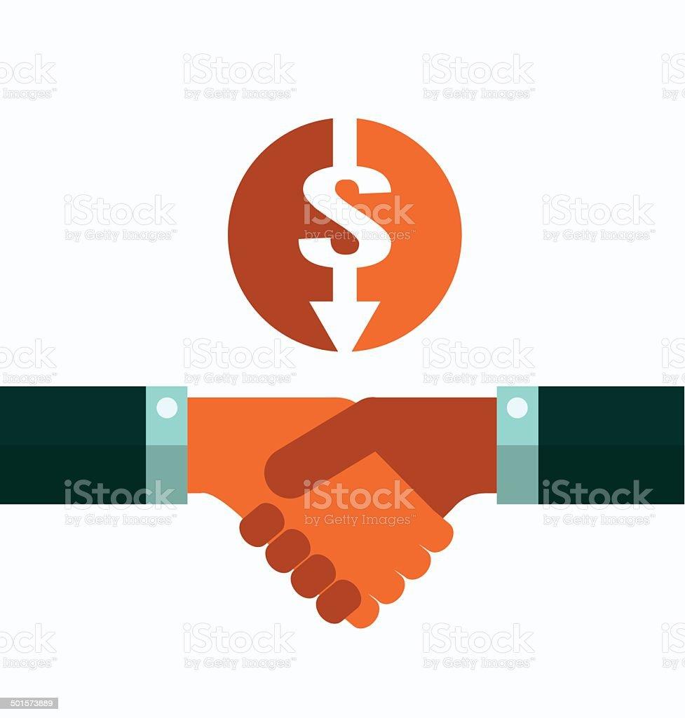 Business Handshake. partnership royalty-free stock vector art