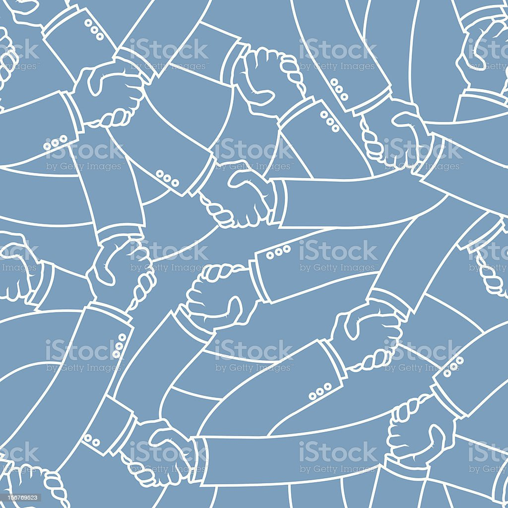 Business Handshake Seamless Pattern royalty-free stock vector art