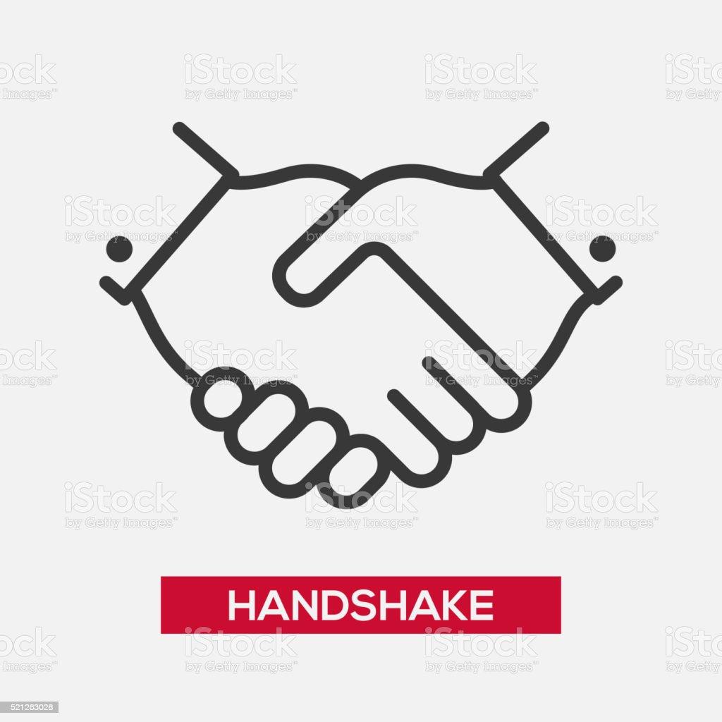Business handshake single icon vector art illustration