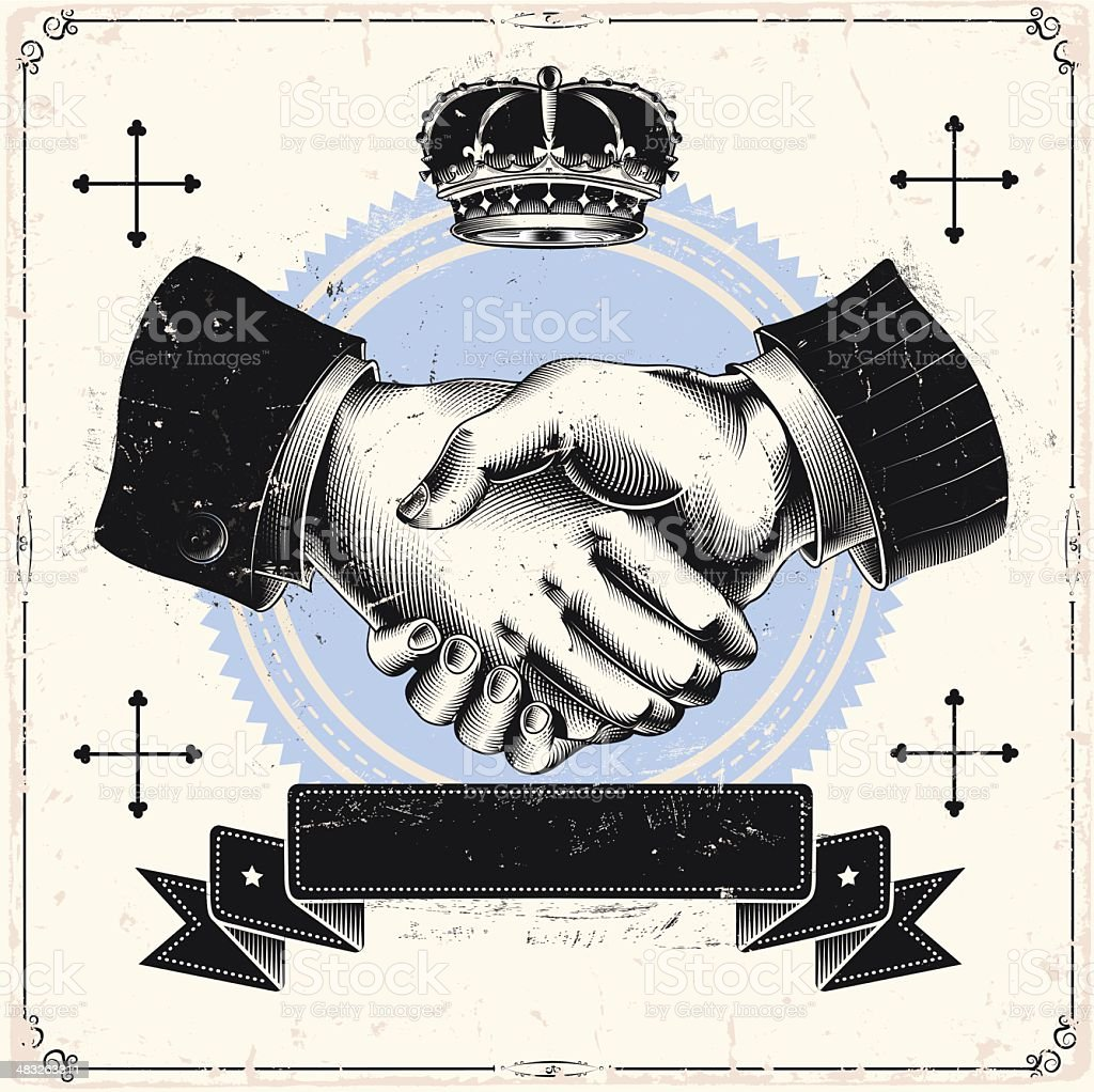 Business handshake royalty-free stock vector art
