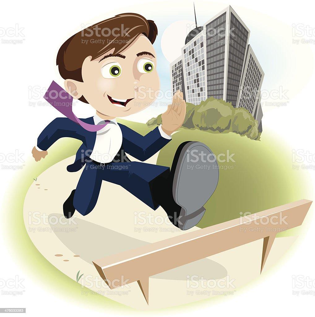 Business Hurdles Youth vector art illustration