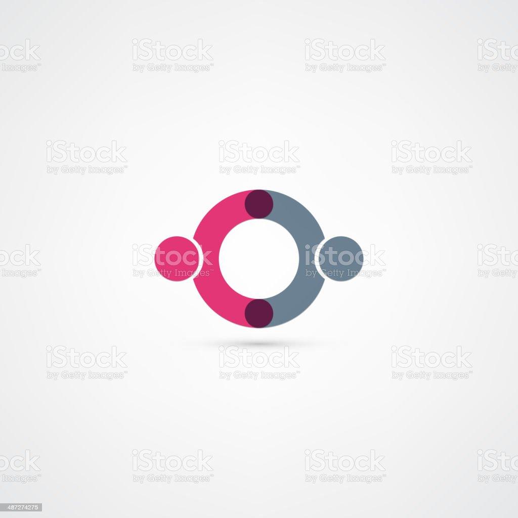 Business icon. Handshake vector art illustration