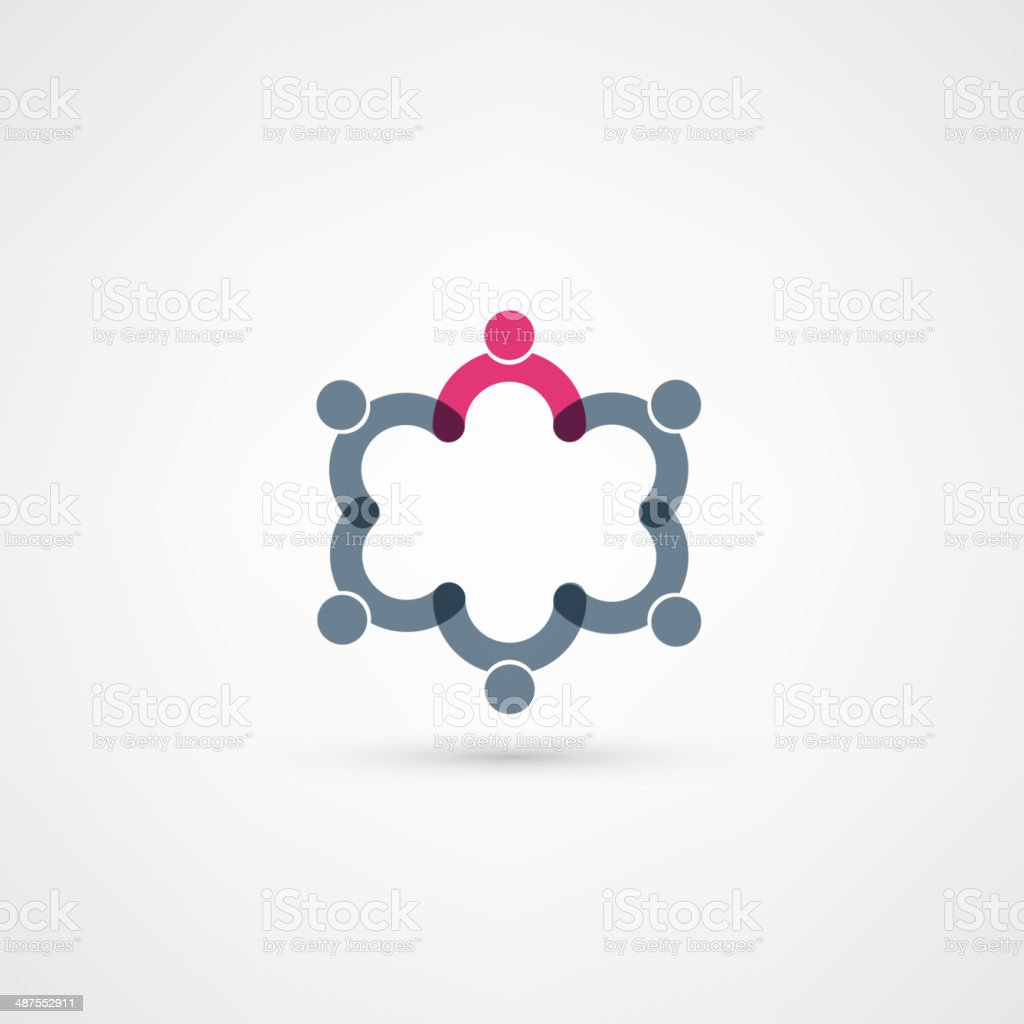Business icon. Handshake. vector art illustration