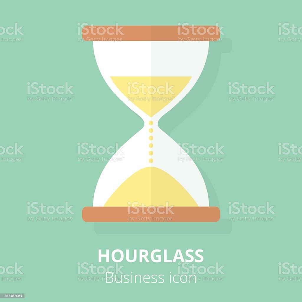 Business icon. Hourglass. Flat vector illustration. vector art illustration