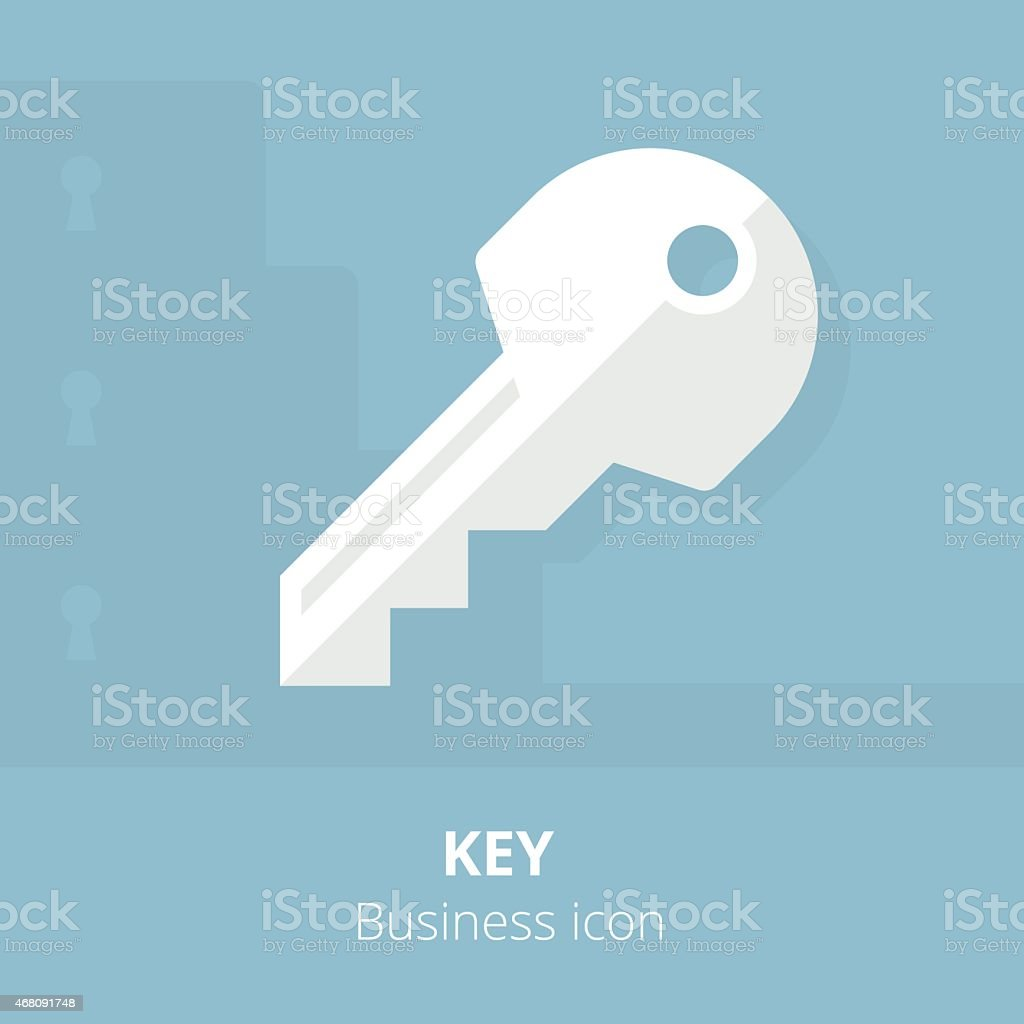 Business icon. Key. Flat vector illustration. vector art illustration