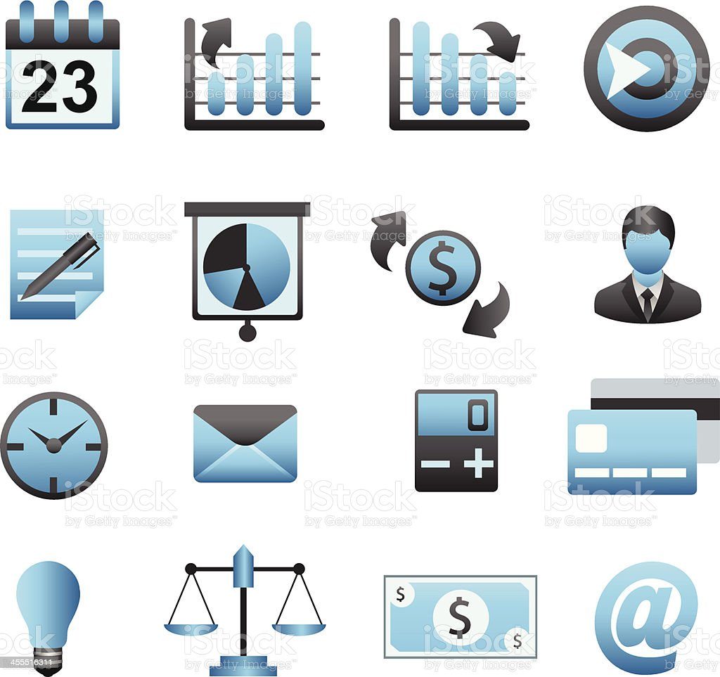 Business Icon Set 01 royalty-free stock vector art