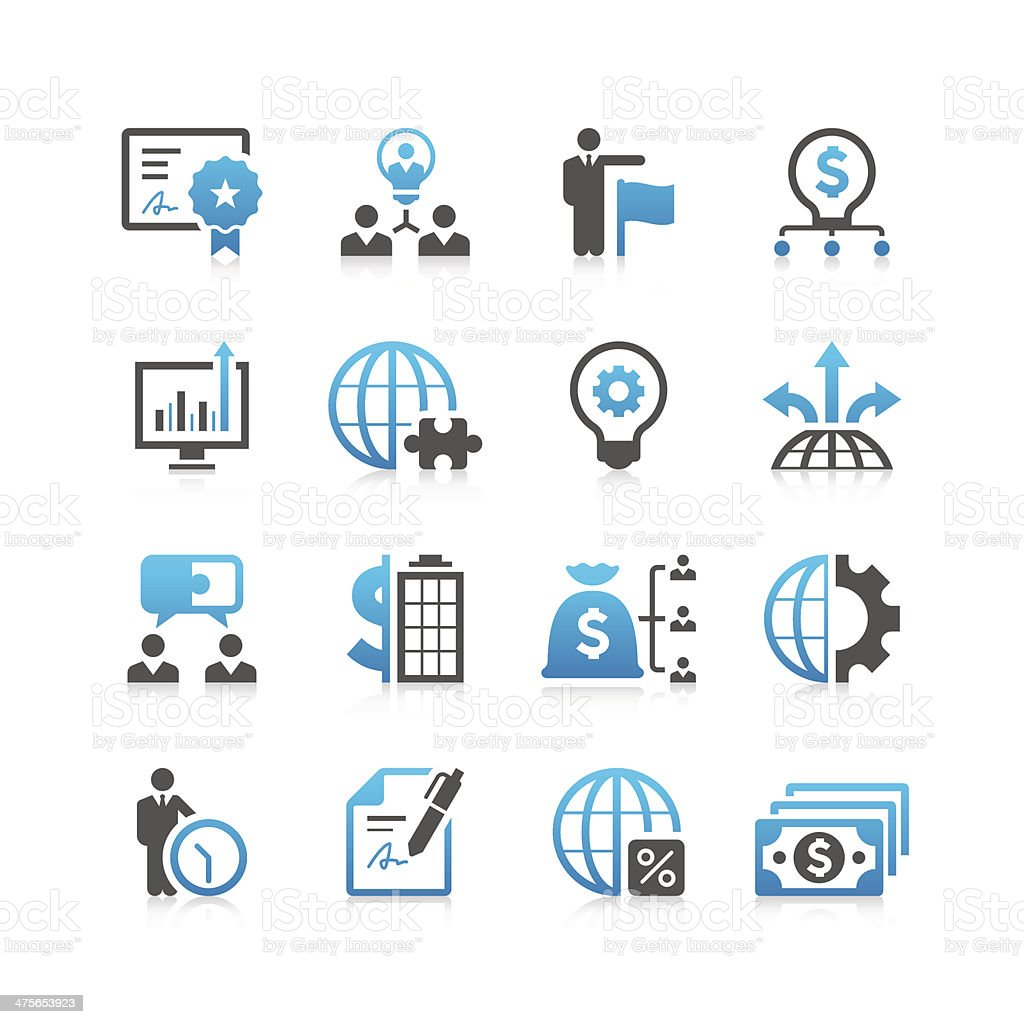 Business Icon Set | Concise Series vector art illustration