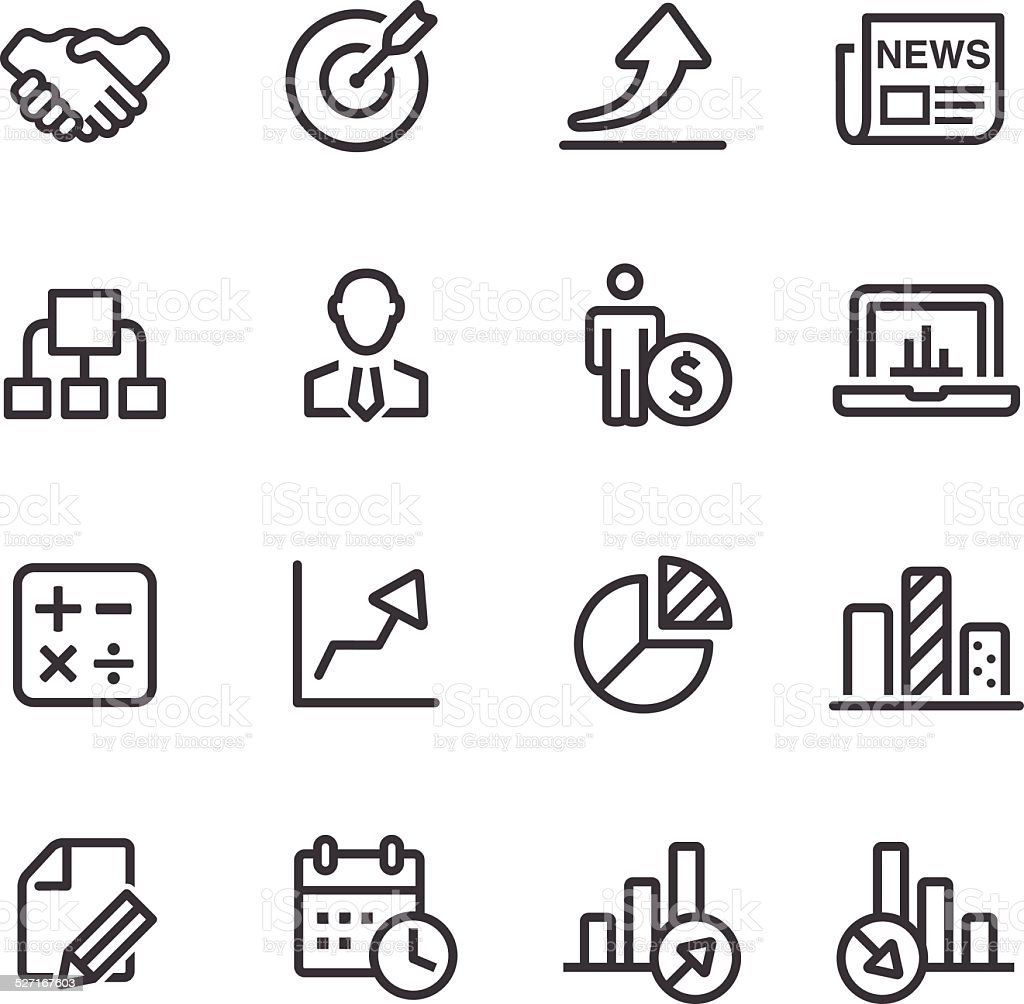 Business Icon Set - Line Series vector art illustration