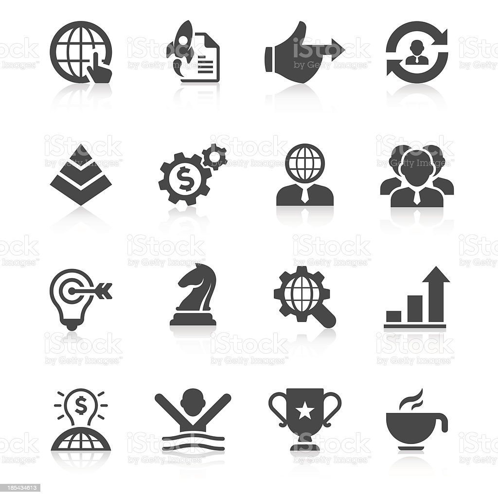 Business Icon Set | Unique Series vector art illustration