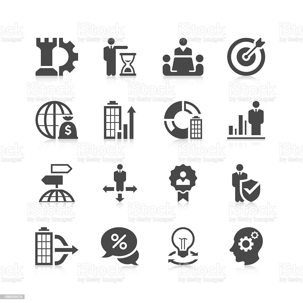 Business Icon Set | Unique Series vector art illustration