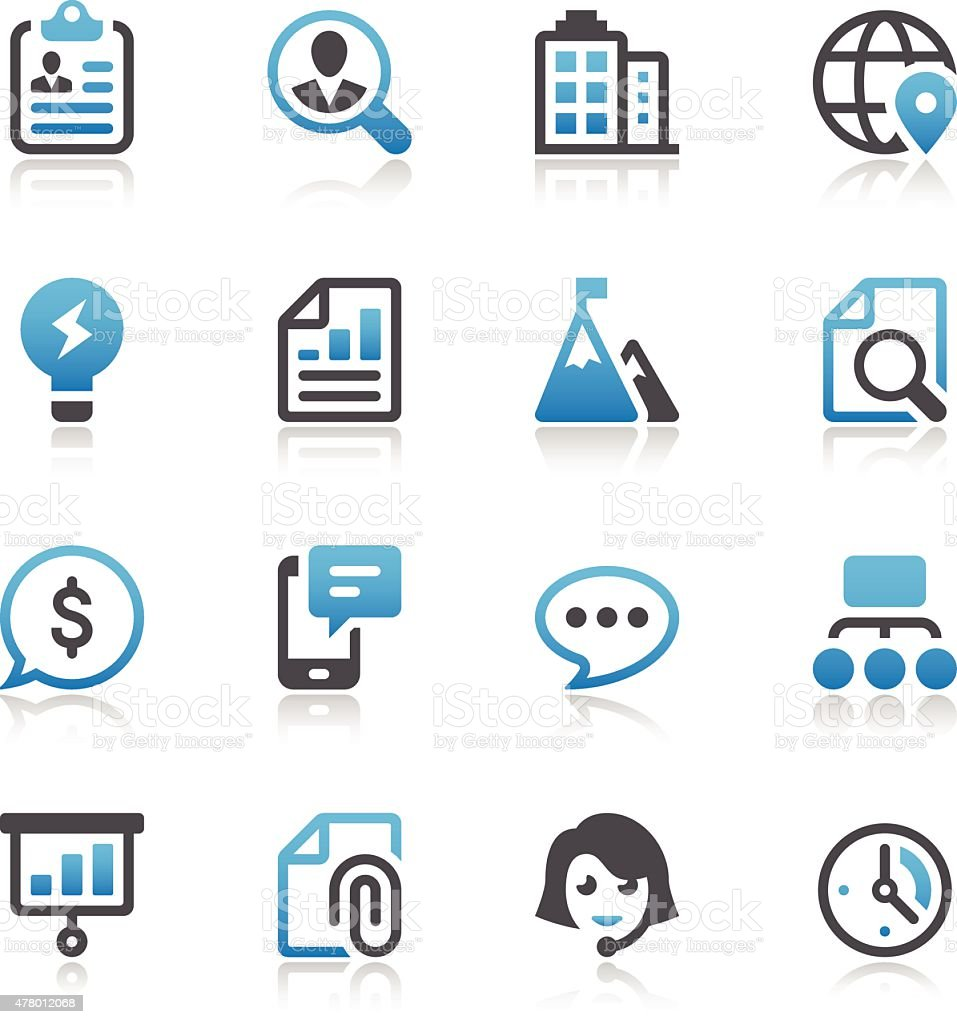 Business Icon Set vector art illustration