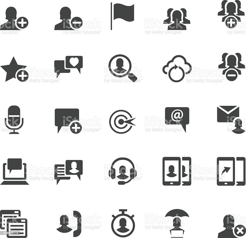 Business icon set vector art illustration