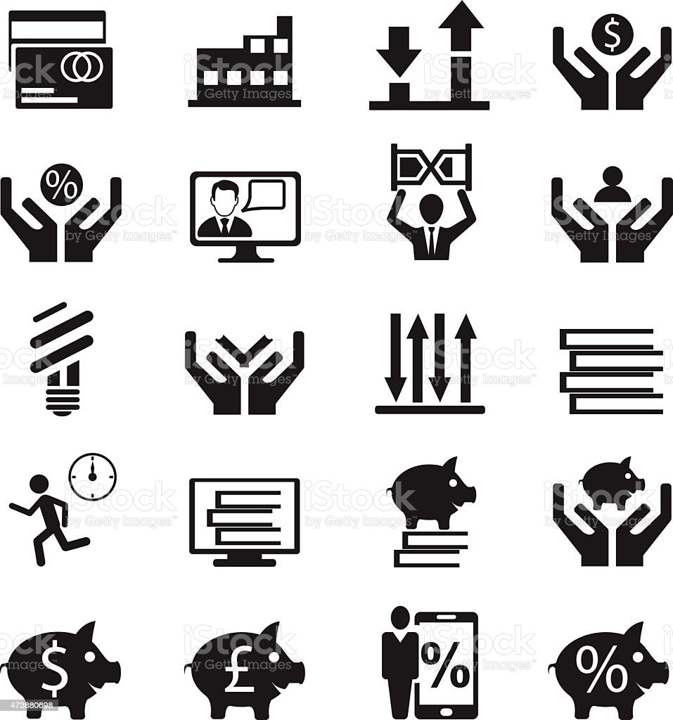 Business icon vector art illustration