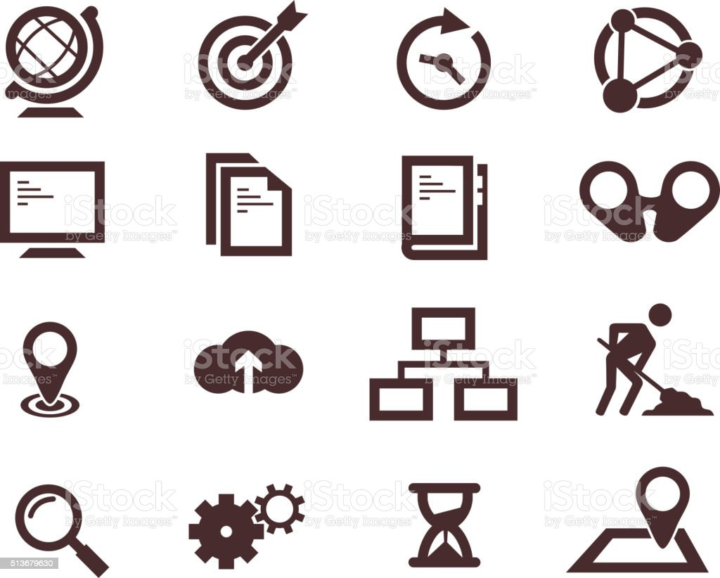 business icons 1 vector art illustration
