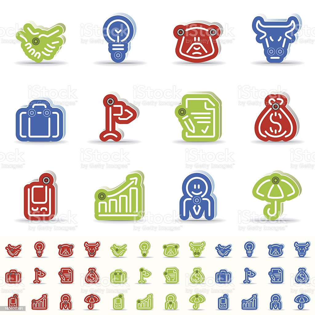 business icons - abombado royalty-free stock vector art