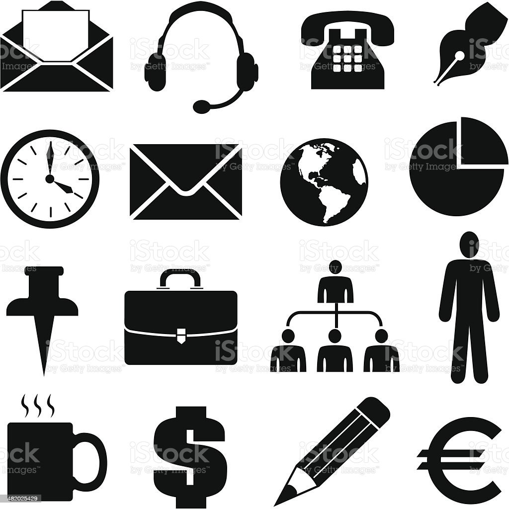 business icons and design elements royalty-free stock vector art