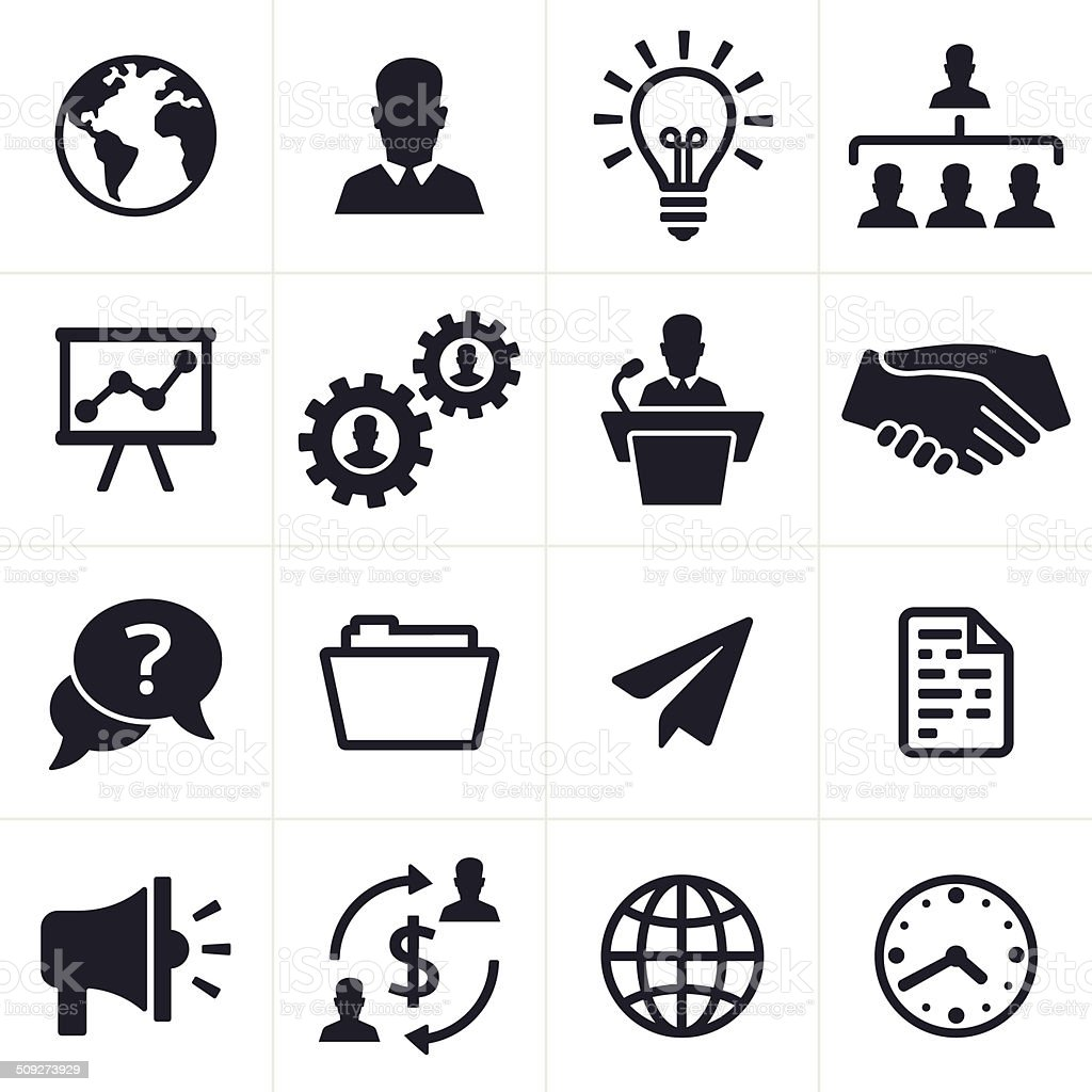 Business Icons and Symbols vector art illustration