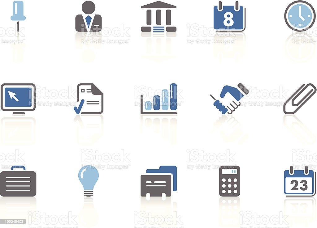 Business icons | azur series vector art illustration