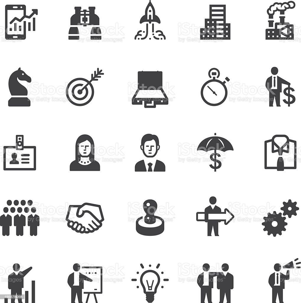 Business icons - Black series vector art illustration