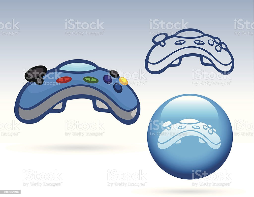 Business Icons - Game Controller royalty-free stock vector art