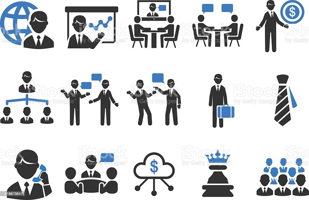 Business icons - Illustration vector art illustration