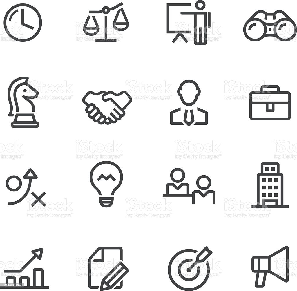 Business Icons - Line Series vector art illustration