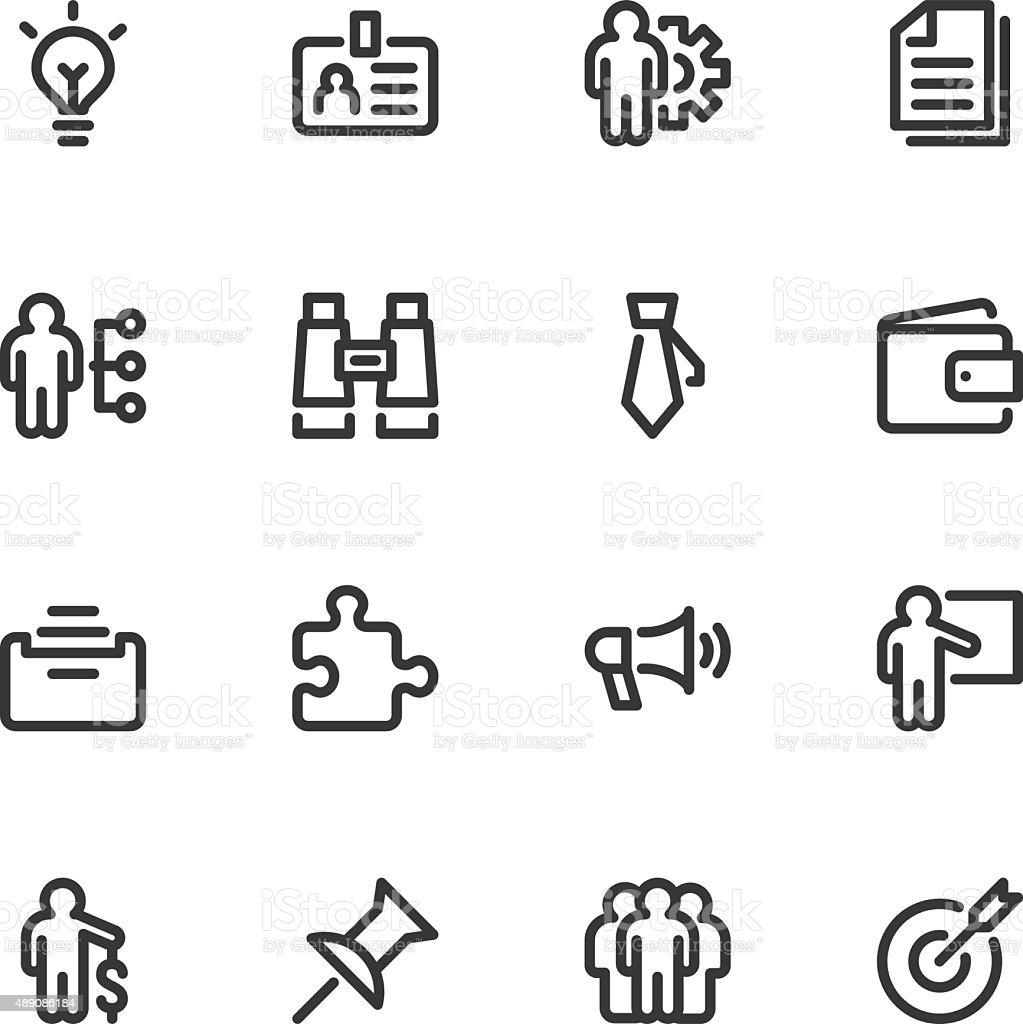 Business icons - Line vector art illustration