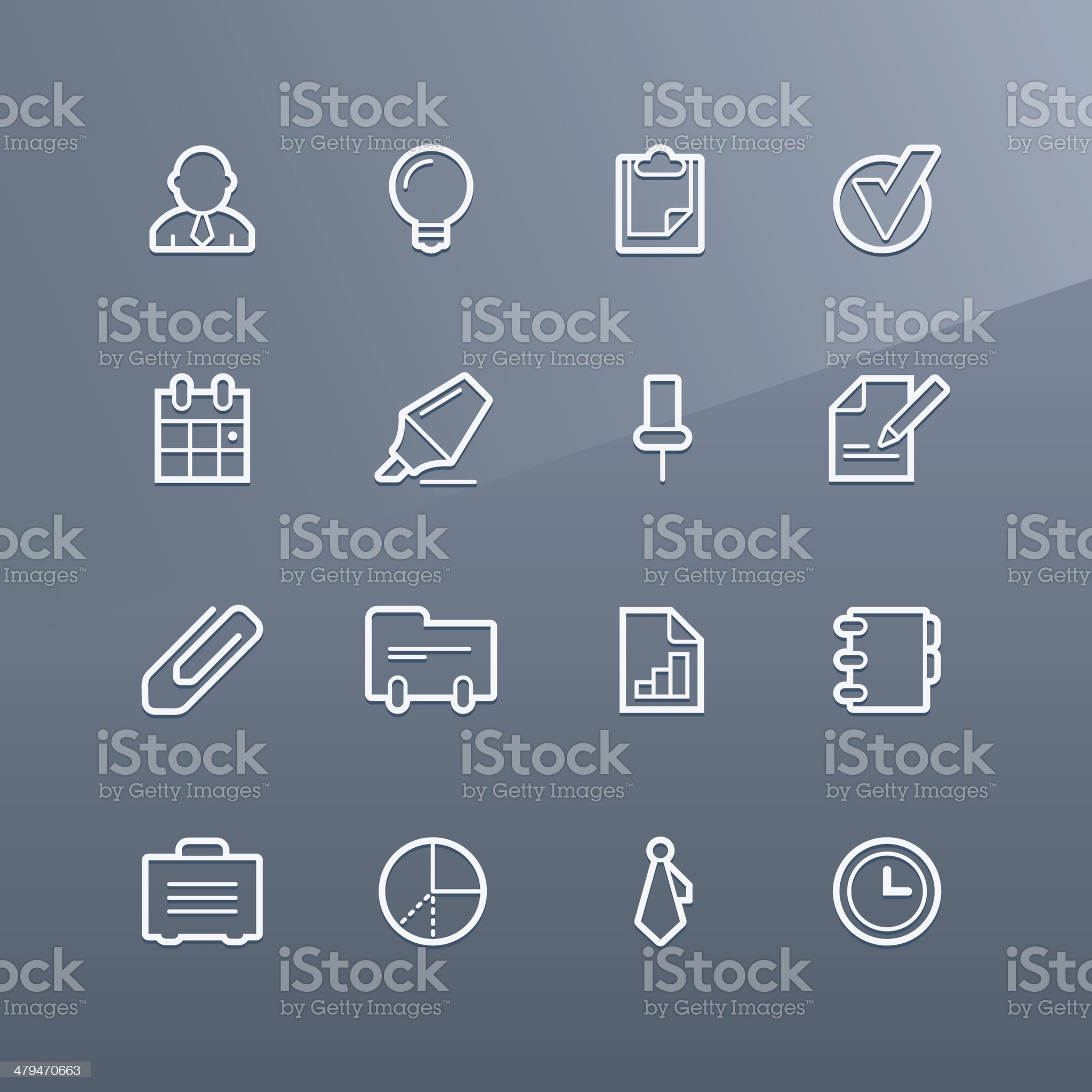 Business icons - Linea series royalty-free stock vector art