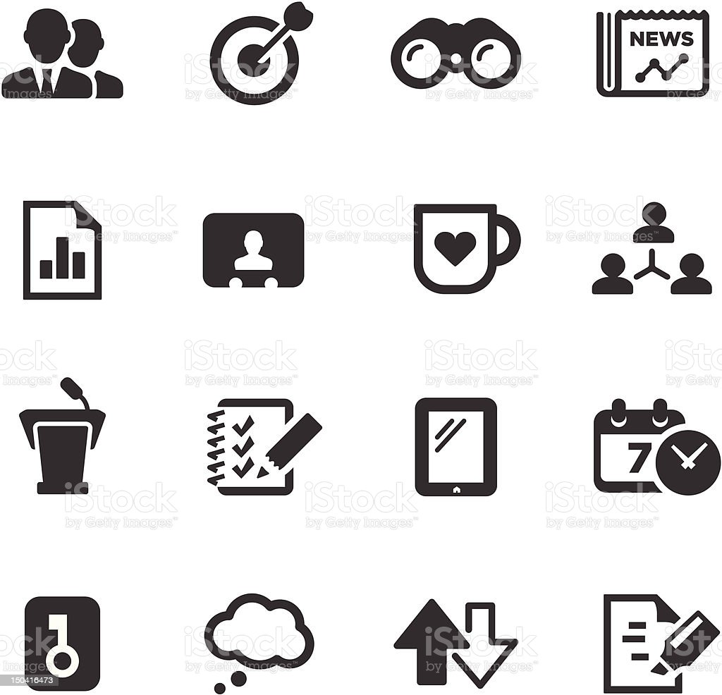 Business Icons | Mono Series royalty-free stock vector art