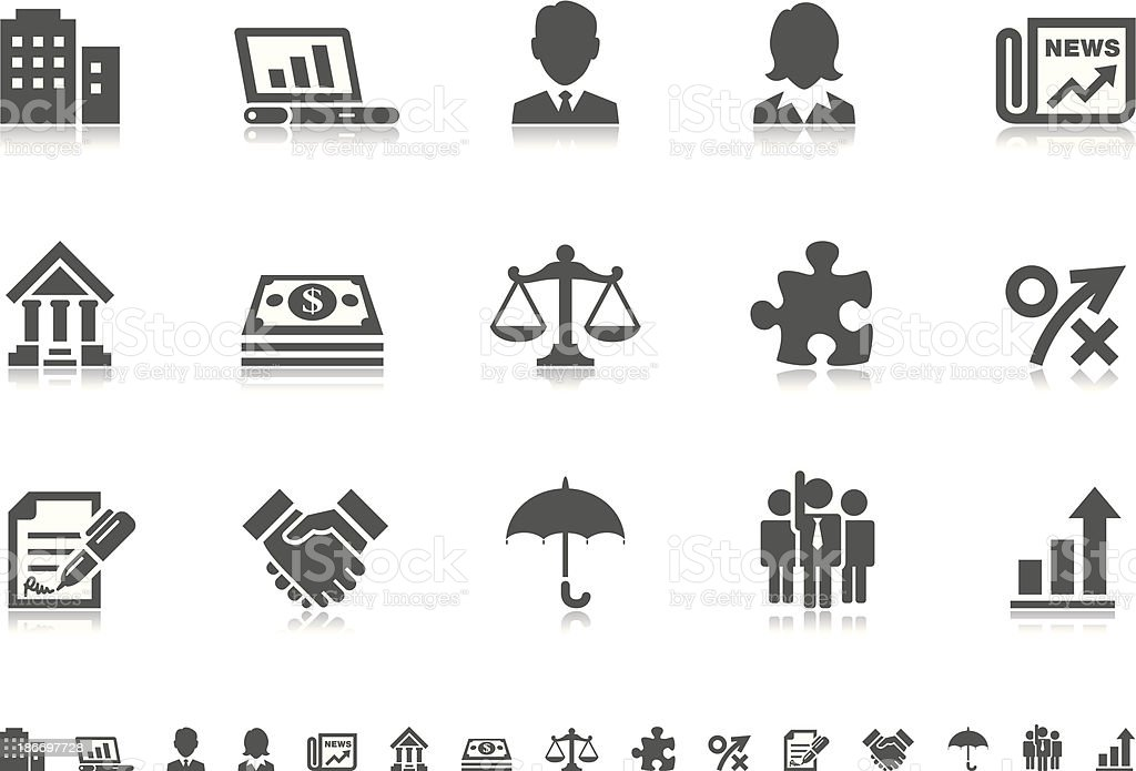 Business icons   Pictoria series royalty-free stock vector art