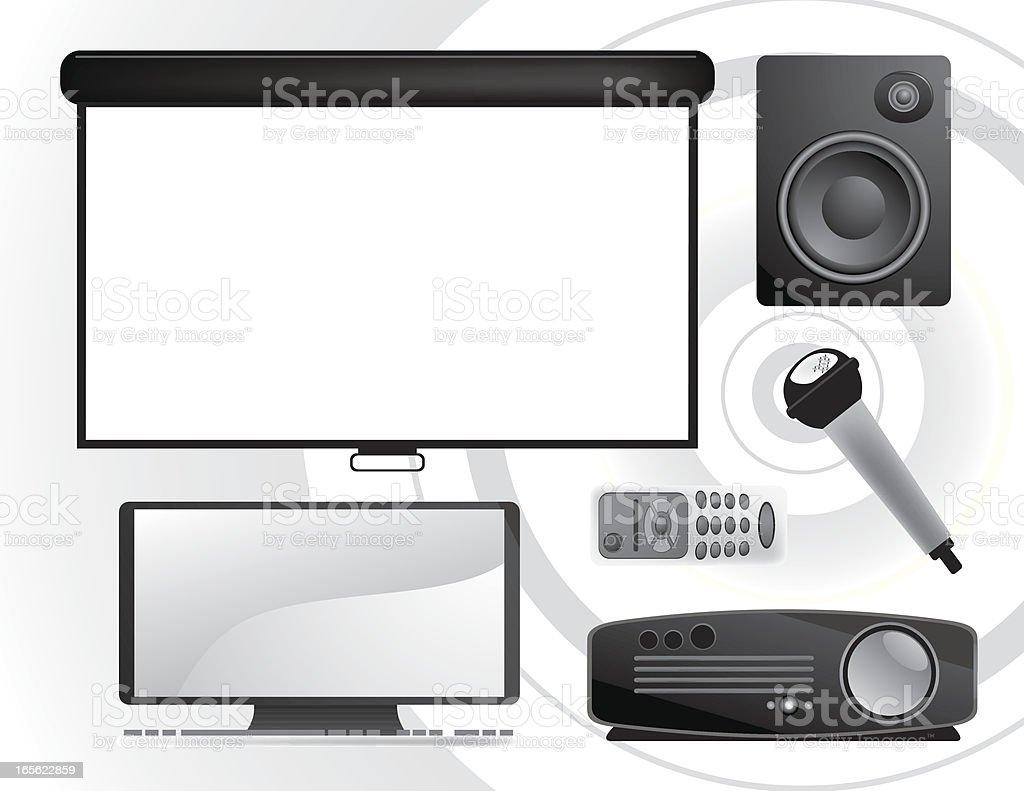 Business Icons: Presentation Set vector art illustration
