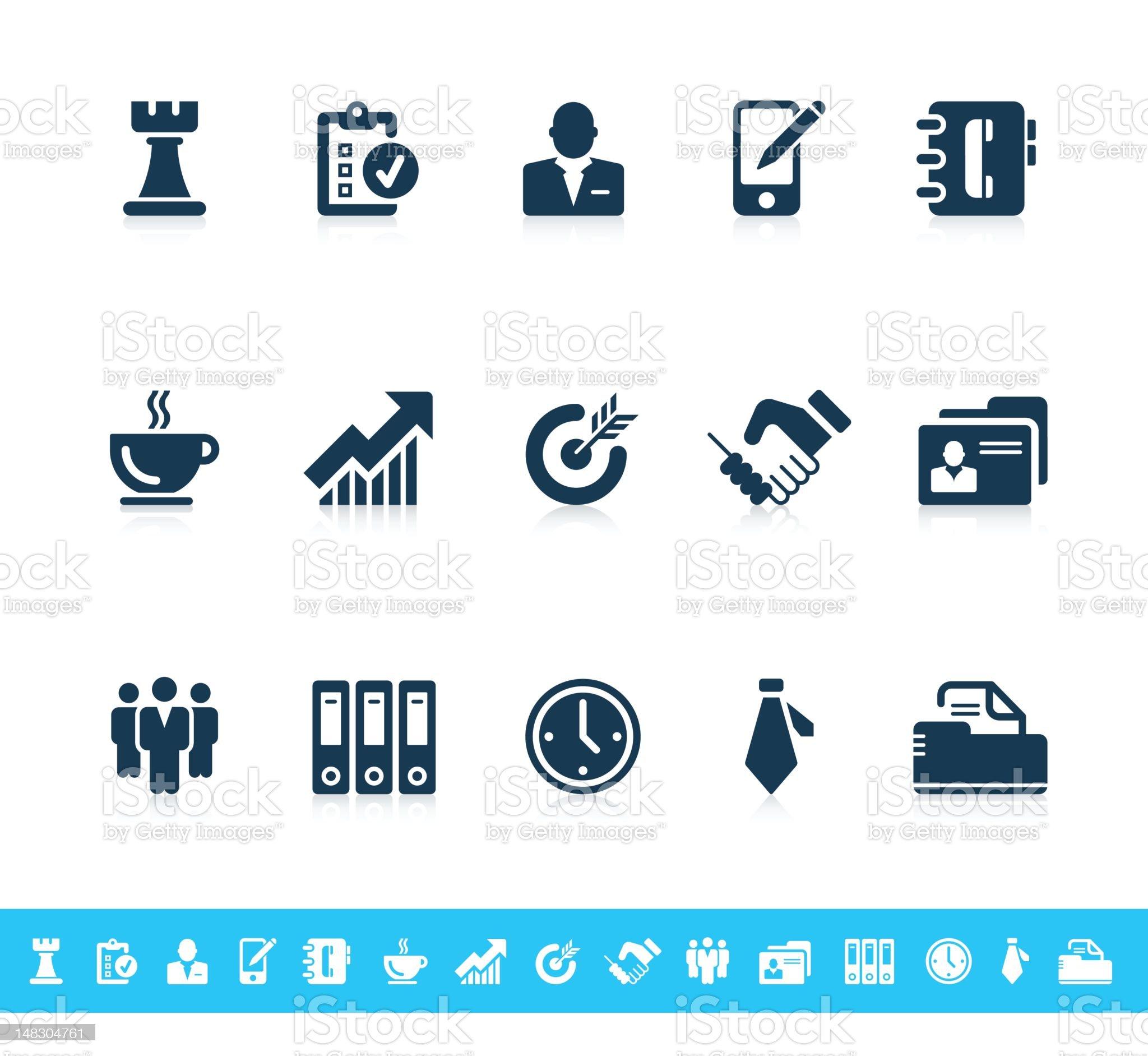 Business icons | Sanoma series royalty-free stock photo