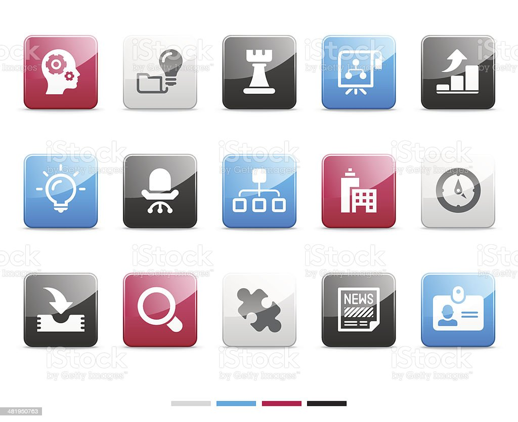 business icons   senso series royalty-free stock vector art