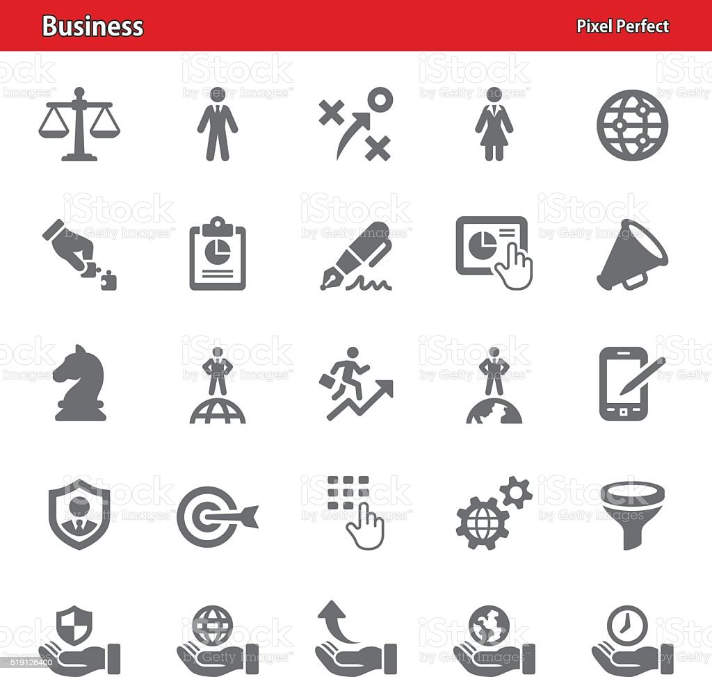 Business Icons - Set 2 vector art illustration