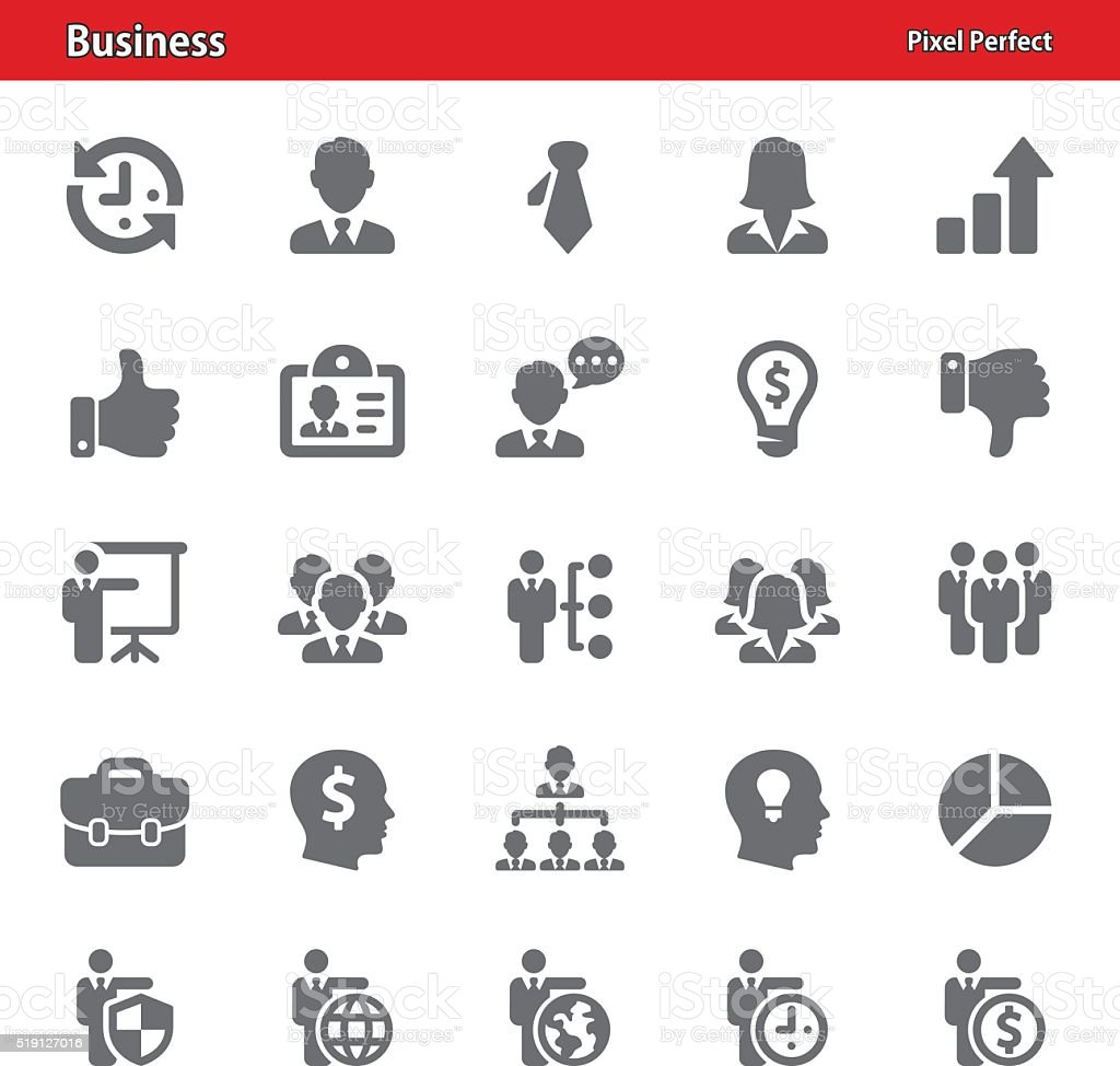 Business Icons - Set 3 vector art illustration